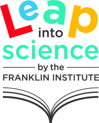 Image of an open book with the words Leap Into Science resting on top of it.