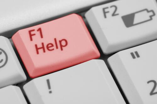 "Computer Keyboard ""Help"" button."