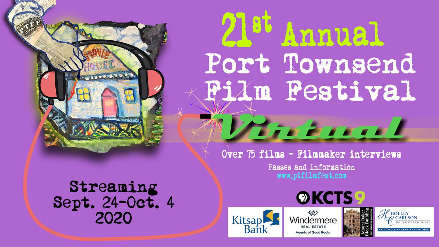 The 21st Annual Port Townsend Film Festival begins September 24th! Enter to win passes!