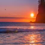 Beach Sunset by Anna Munn of Quilcene