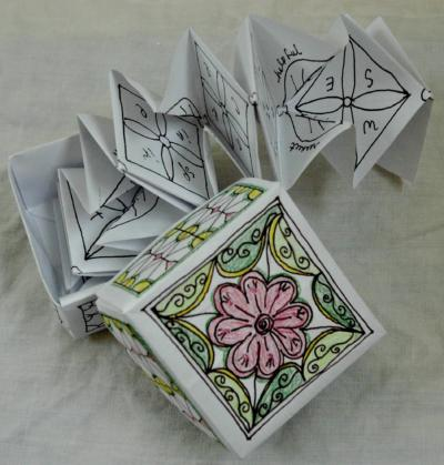 Image of a handmade paper story box