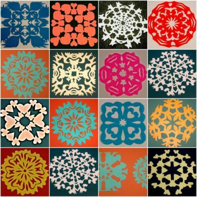 Image of paper Wycinanki cutouts