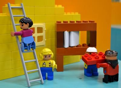 Image of Lego construction workers