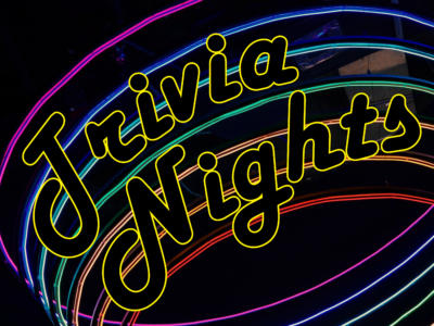 Neon Lights and the words Trivia Nights