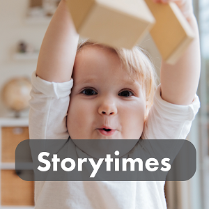 Storytimes (cute baby tossing wooden blocks)